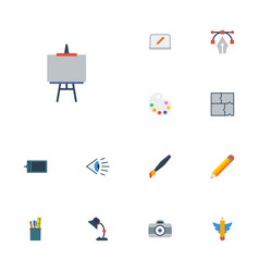 flat icons gadget screen illuminator and other vector image