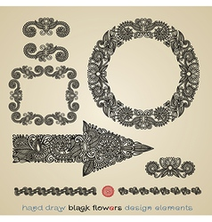 flower design element - arrow circle frame divider vector image