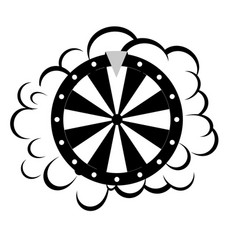 fortune wheel for gambling in casino cartoon vector image