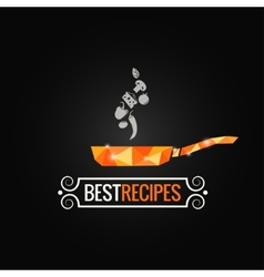 frying pan poly design background vector image