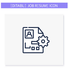 Functional resume line icon editable vector
