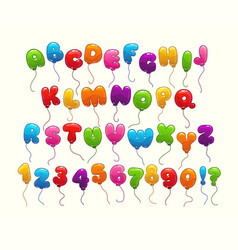 Funny balloon alphabet vector