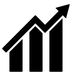 Growth Chart Flat Icon vector image vector image