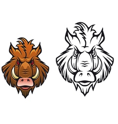Head angry boar vector