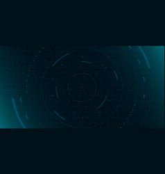 hud dark blue background with grid dots vector image