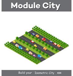 isometric module is area landscape vector image
