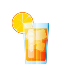 juice orange fresh glass citrus design vector image