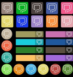 Large intestine icon sign Set from twenty seven vector