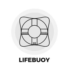 Lifebuoy Line Icon vector image
