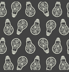 Light bulb pattern eureka lamp new idea for vector