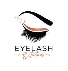 Luxury beauty eyelashes logo vector