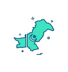 map pakistan icon vector image