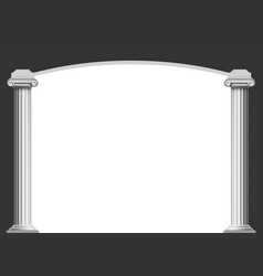 marble antique columns with an arch vector image