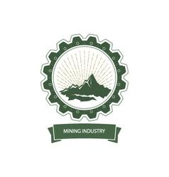 Mining Industry Emblem vector