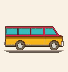 minivan eps 10 vector image