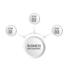 modern business infographic banner vector image