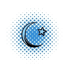 Muslim symbol comics icon vector