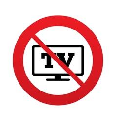 No widescreen tv sign icon television set symbol vector