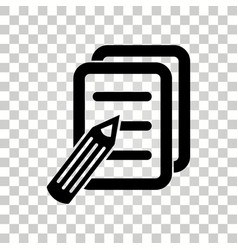 notepad icon vector image