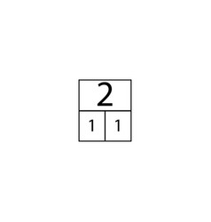 Number two composition table sign eps ten vector