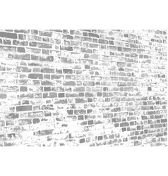 old brick wall perspective vector image