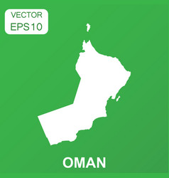 oman map icon business concept oman pictogram on vector image