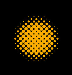 orange circle halftone vector image