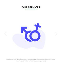 our services gender symbol male female solid vector image