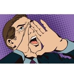 People in retro style pop art Screaming man vector