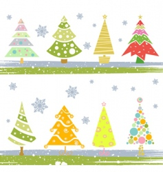 pine tree set vector image