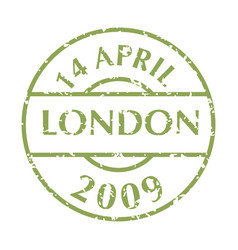 postal stamp from london vector image