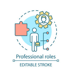 Professional roles concept icon functions vector