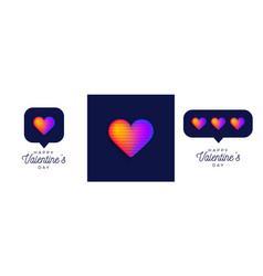 rainbow card set banner or flyer valentine vector image