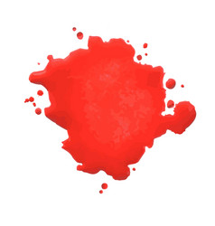 red blot vector image