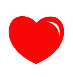 red heart shining icon happy valentines day sign vector image