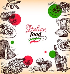 Restaurant Italian cuisine menu design Hand drawn vector