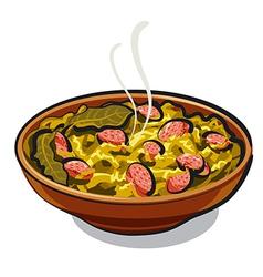 sauerkraut vector image