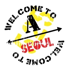 Seoul stamp rubber grunge vector
