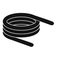 Short spring coil icon simple style vector