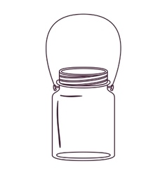 Silhouette jar of jam with handle vector