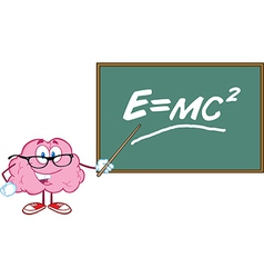 Smart brain teaching vector image