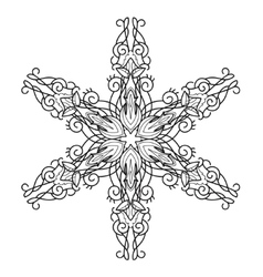 Snowflake hand drawn doodle vector