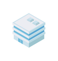 Square building industrial composition vector