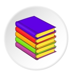 Stack of books icon cartoon style vector image