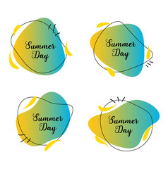Summer day label vector