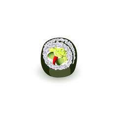 sushi roll - fresh traditional japanese food vector image