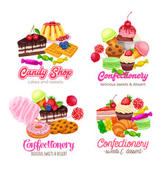 Sweets banners vector