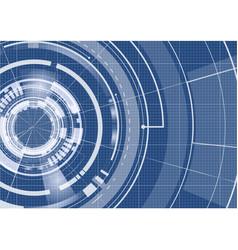 technological blueprint technical full hud vector image