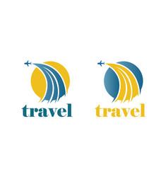 Travel plane logo vector