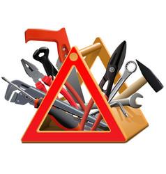 Triangular toolbox vector